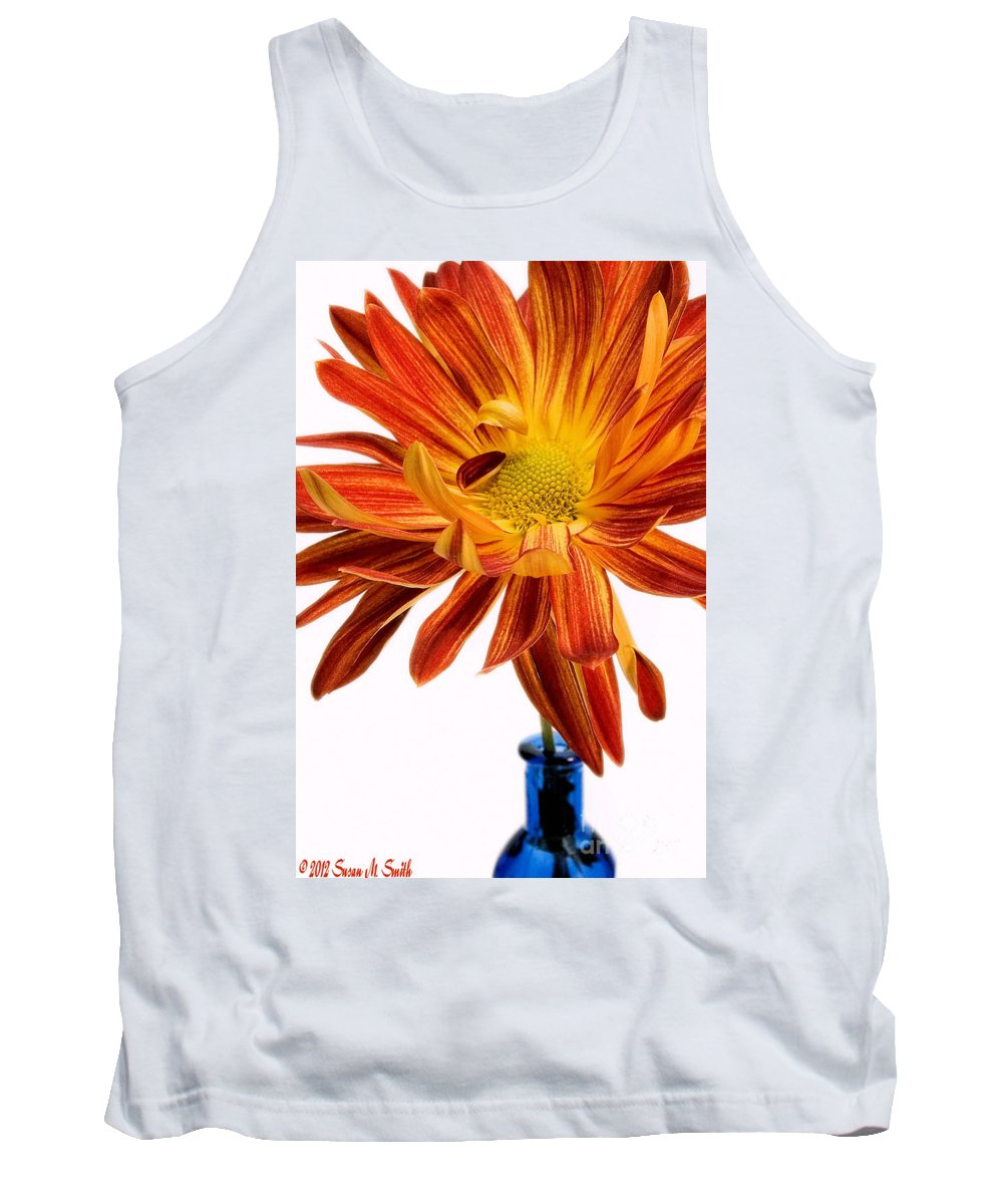 Flowers Tank Top featuring the photograph Orange You Happy by Susan Smith