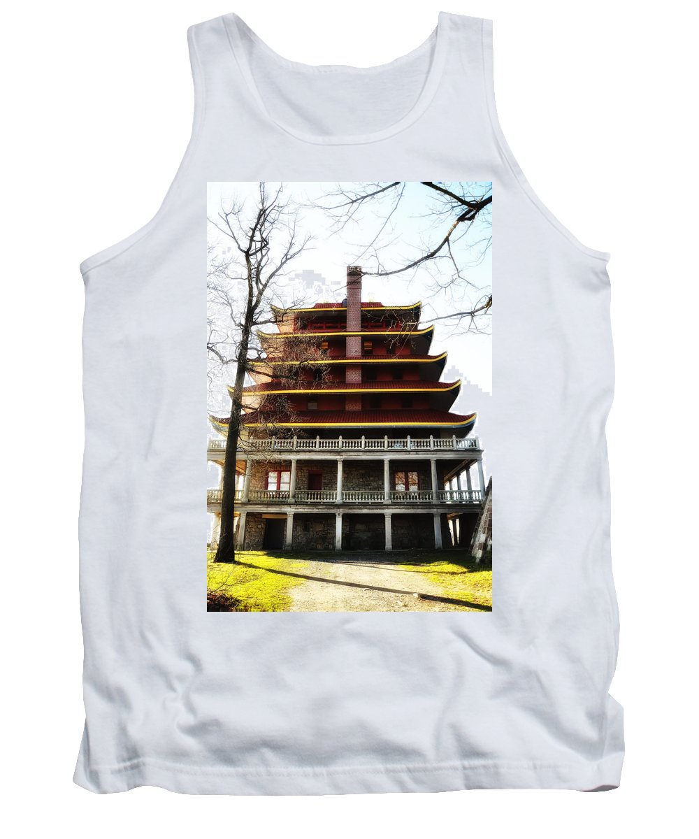 Pagoda Reading Pa. Tank Top featuring the photograph Pagoda Reading Pa. by Bill Cannon