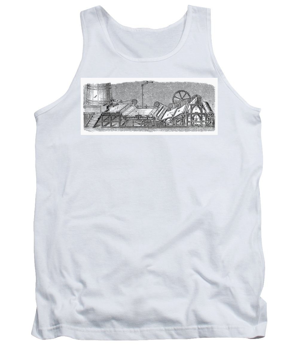 19th Century Tank Top featuring the photograph Paper Machine, C1880 by Granger