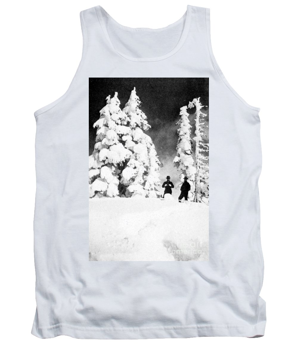 Science Tank Top featuring the photograph Paradise Inn, Mt. Ranier, 1917 by Science Source