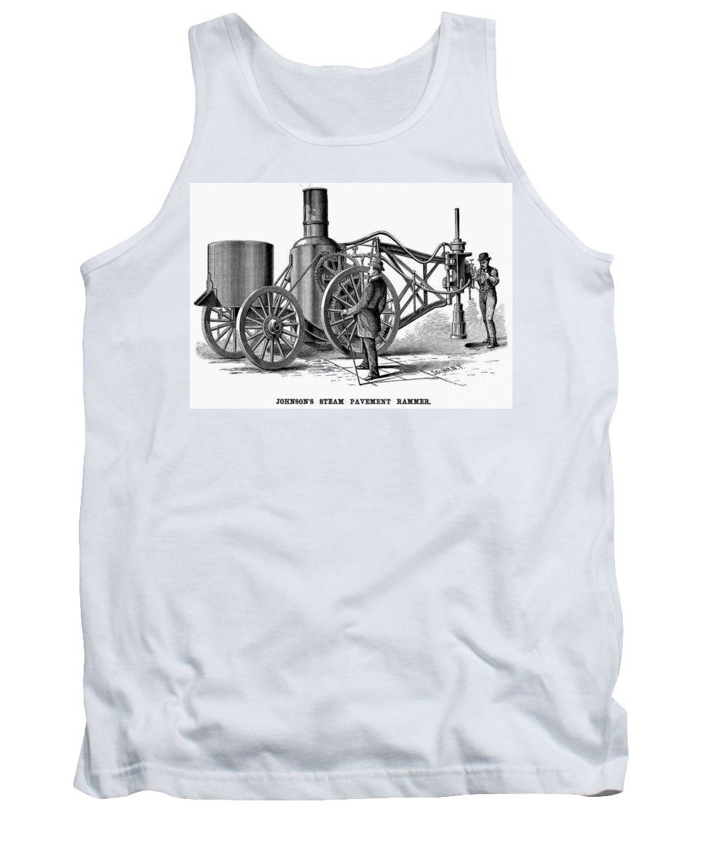 1879 Tank Top featuring the photograph Paving Machine, 1879 by Granger