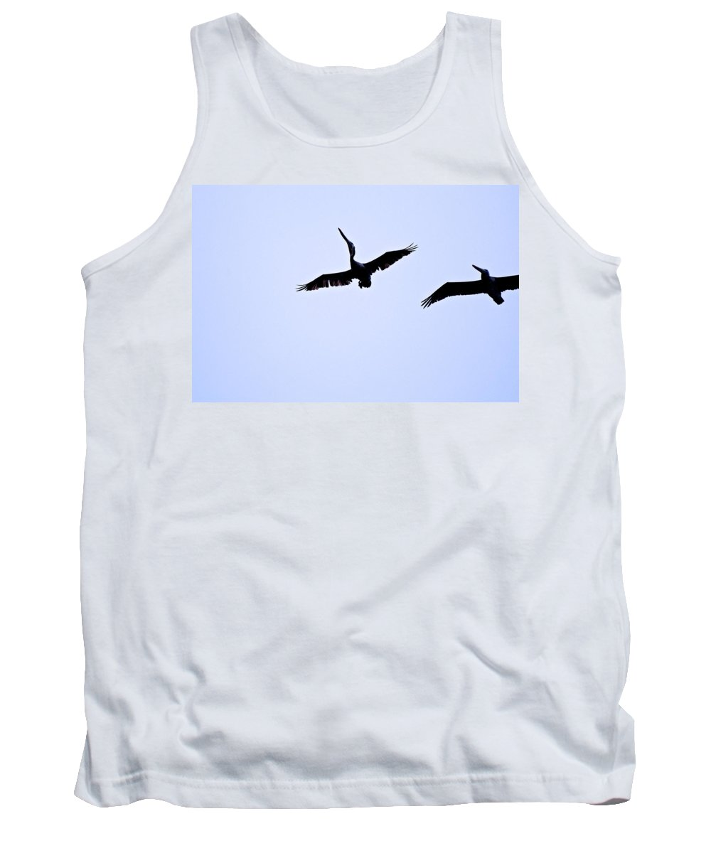 Brown Pelican Tank Top featuring the photograph Pelican Stalling by Eric Tressler