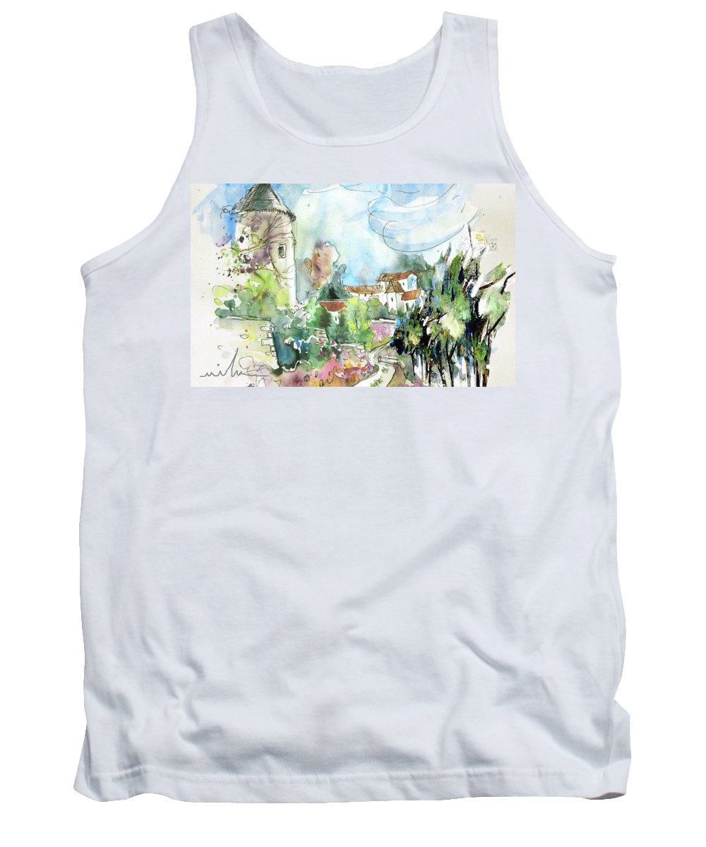 France Tank Top featuring the painting Perigord In France 06 by Miki De Goodaboom
