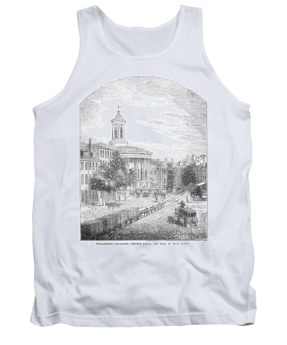 1854 Tank Top featuring the photograph Philadelphia, 1854 by Granger