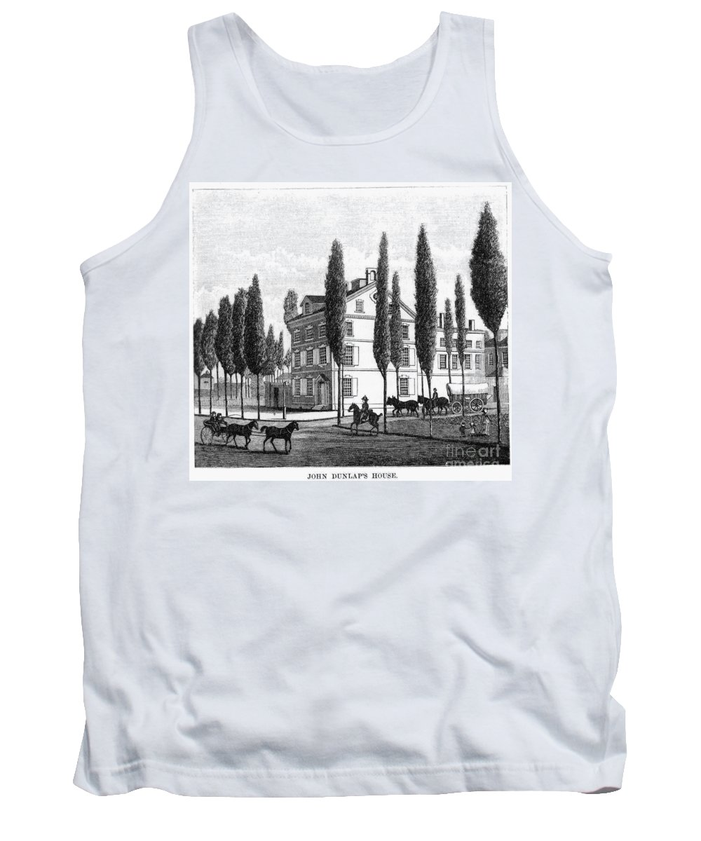 1800 Tank Top featuring the photograph Philadelphia: House, C1800 by Granger
