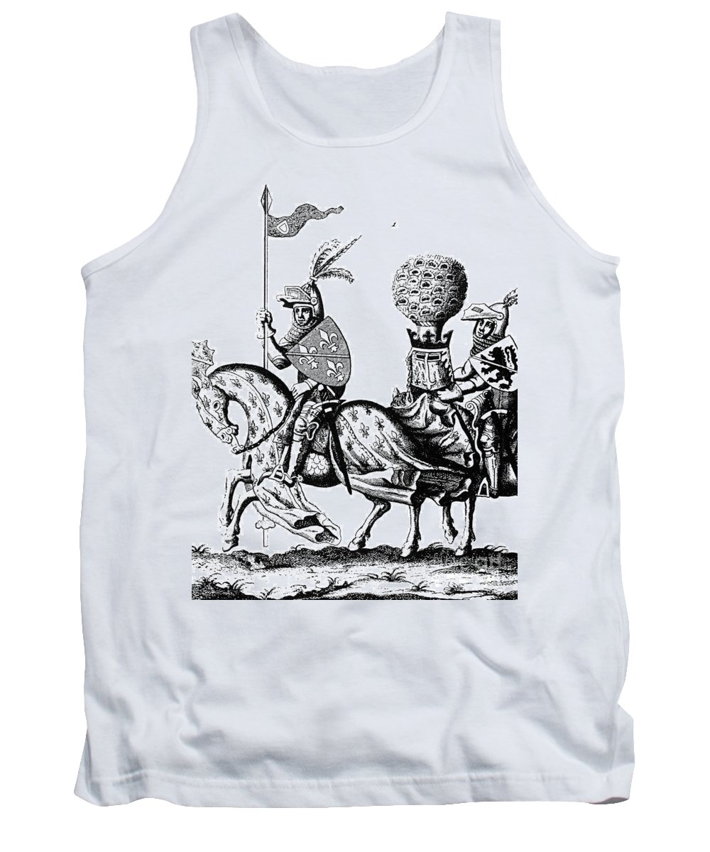1190 Tank Top featuring the photograph Philip II & Richard I by Granger