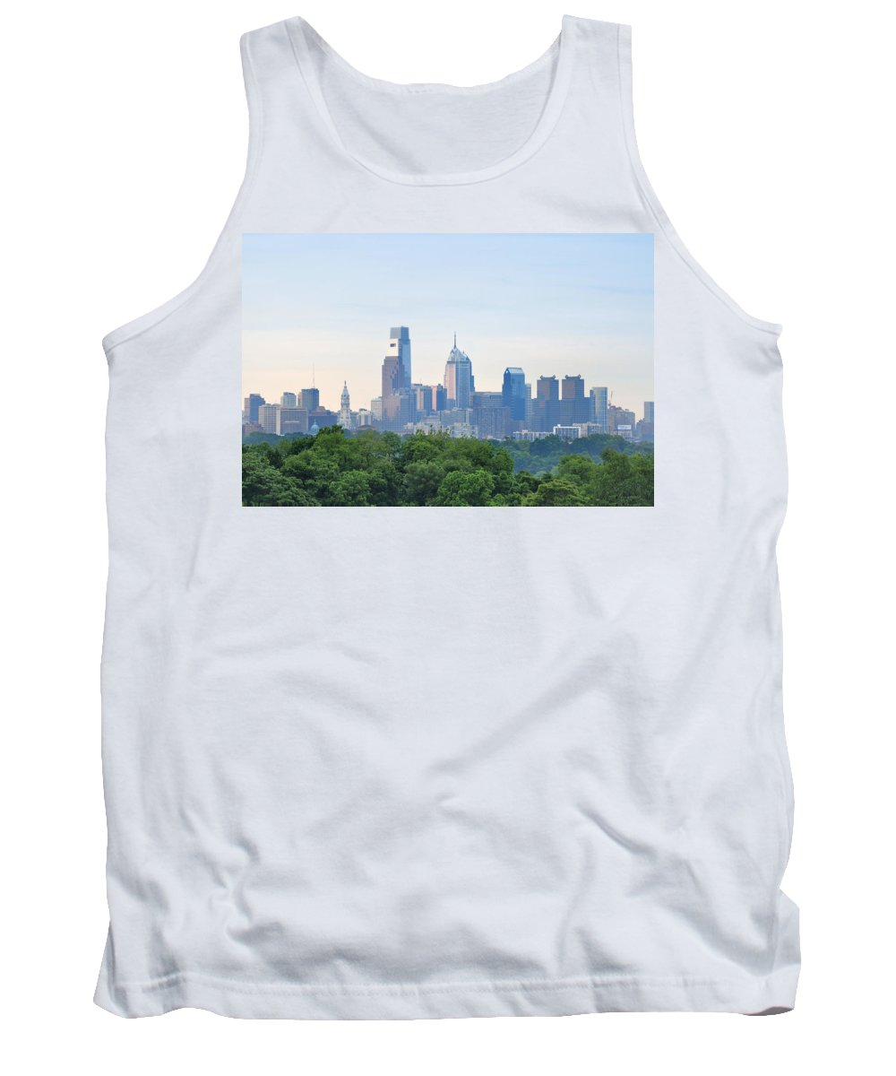 Philly Skyline Tank Top featuring the photograph Philly Skyline by Bill Cannon