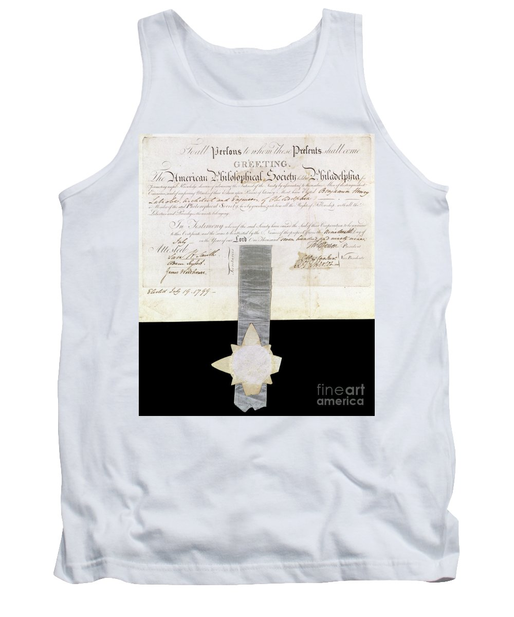 1799 Tank Top featuring the photograph Philosophical Society by Granger