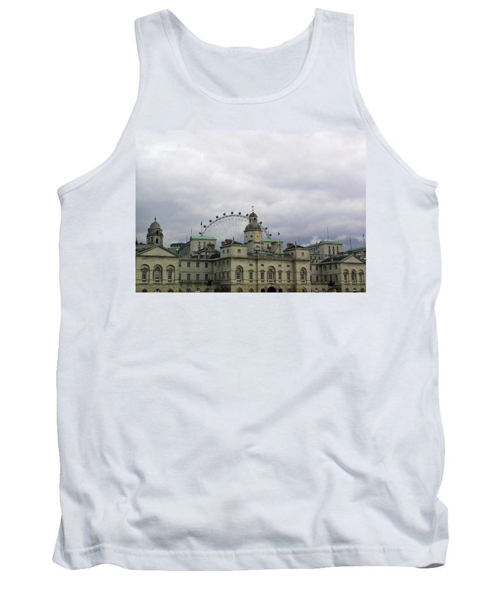 London Tank Top featuring the photograph Photo Of London With London Eye In The Background by Ashish Agarwal