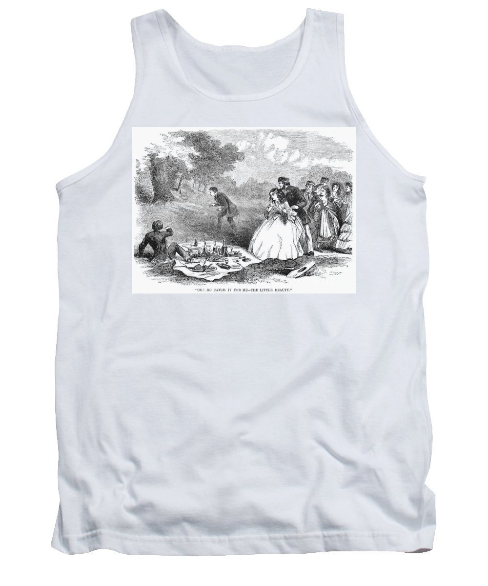 1859 Tank Top featuring the photograph Picnic, 1859 by Granger