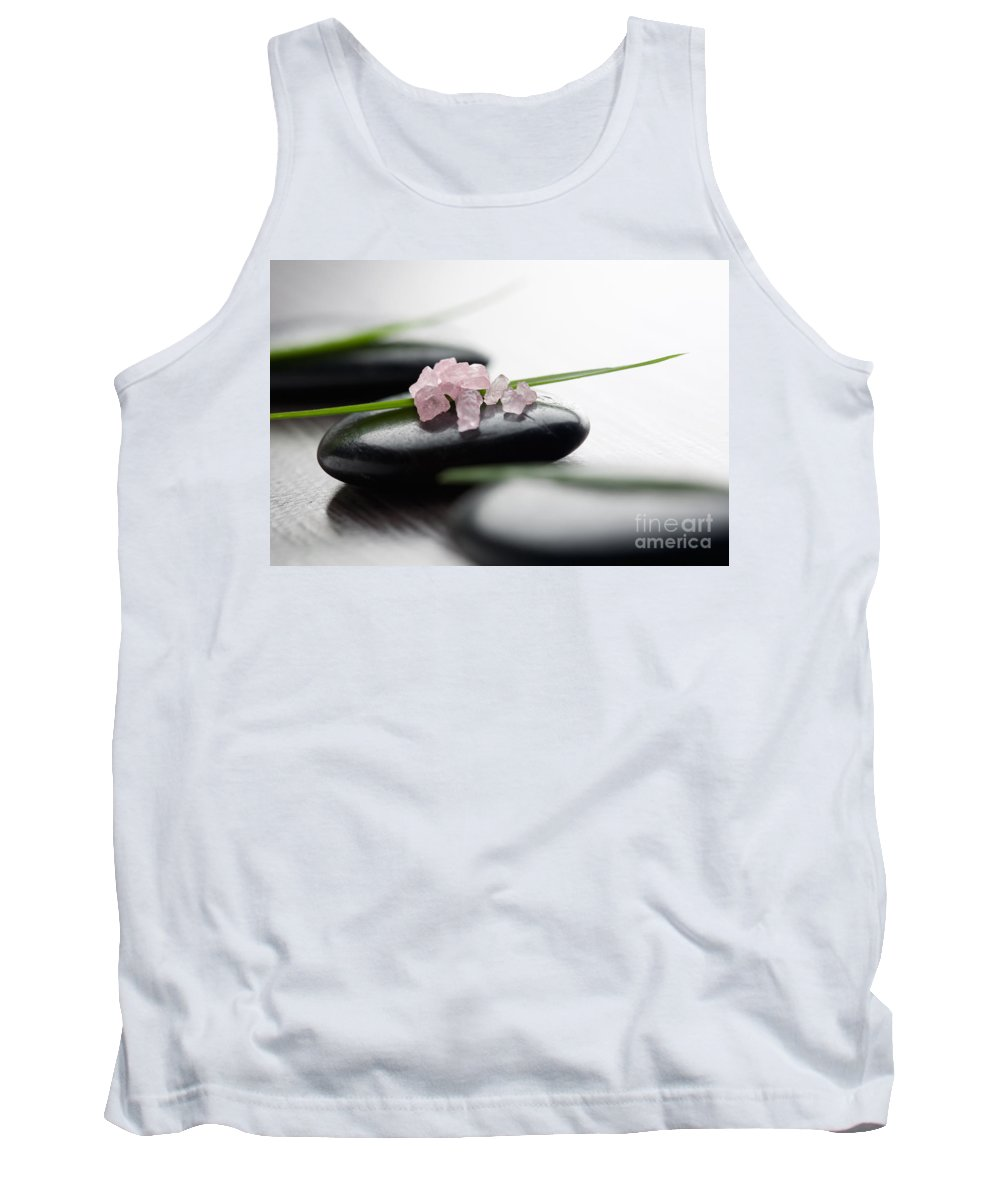 Kamo Tank Top featuring the photograph Pink Bath Salt by Kati Finell
