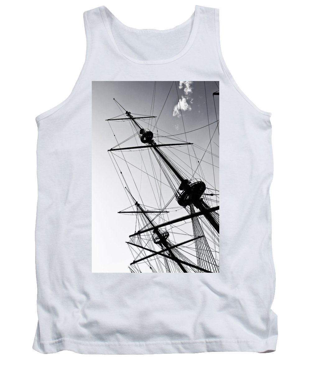 Mast Tank Top featuring the photograph Pirate Ship by Joana Kruse