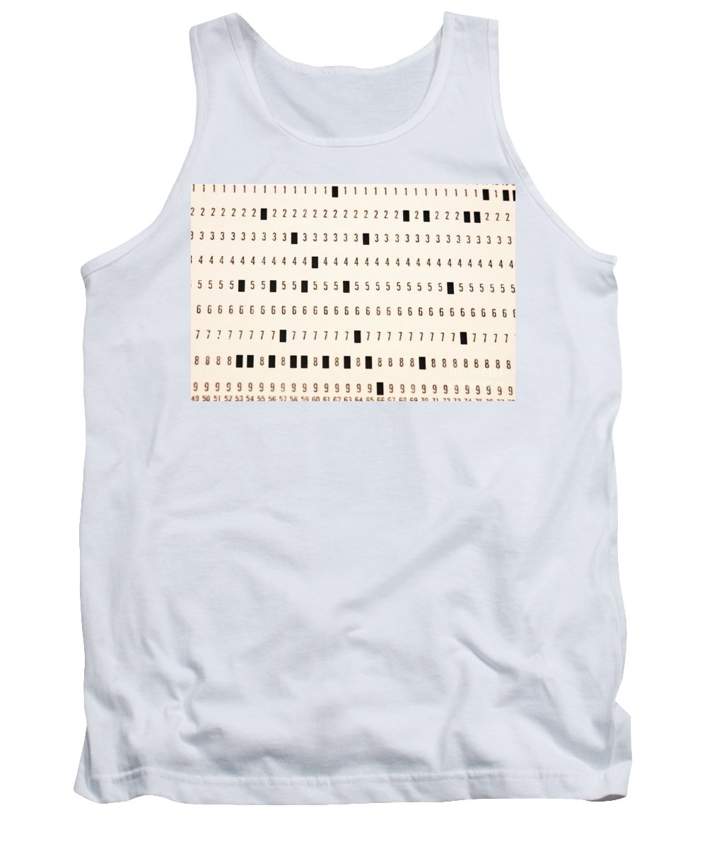 Punch Cards Tank Top featuring the photograph Punch Card by Photo Researchers, Inc.