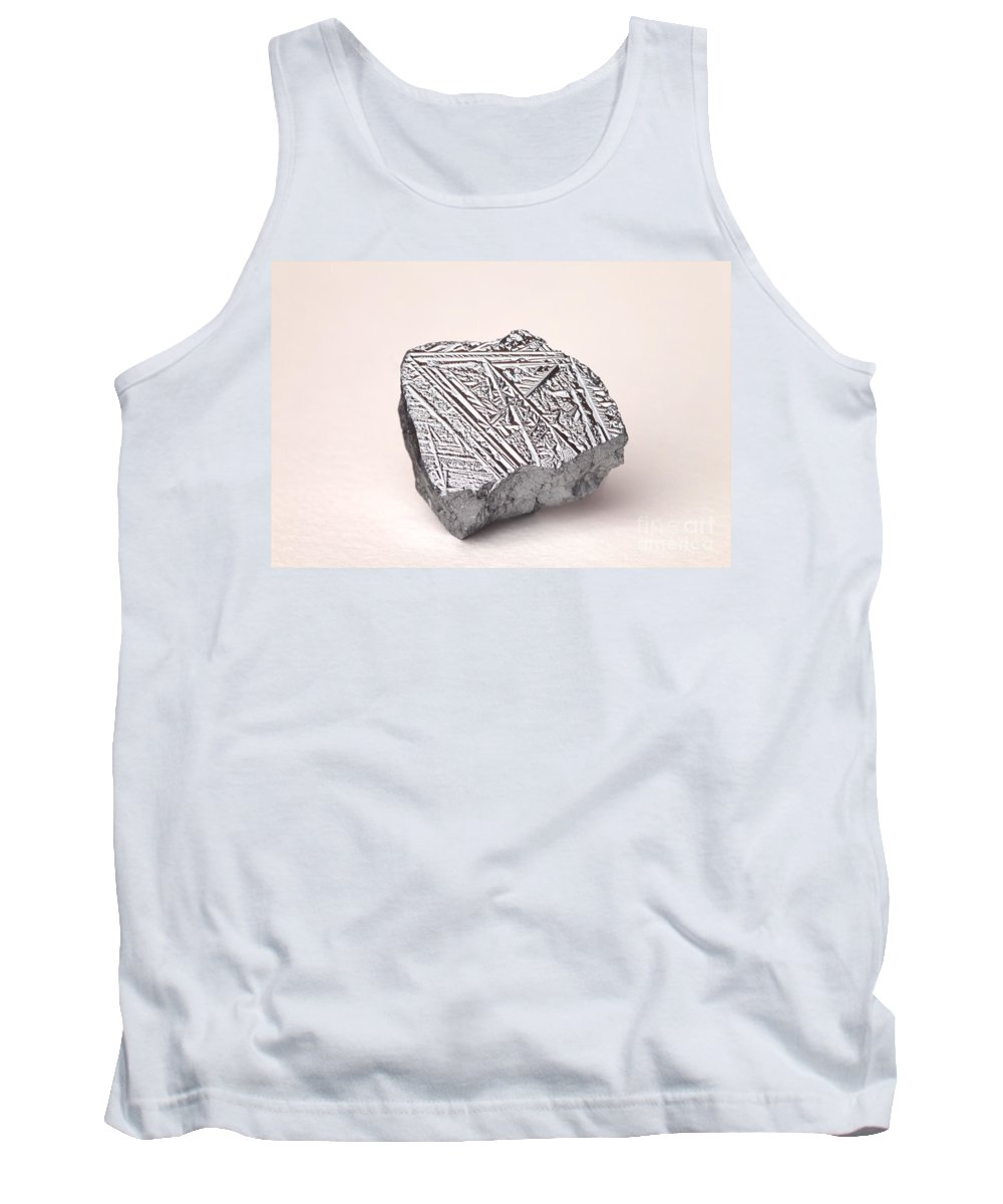 Metalloid Tank Top featuring the photograph Pure Crystalline Silicon by Ted Kinsman