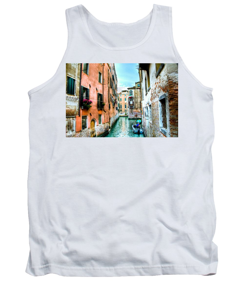 Venice Canal Tank Top featuring the photograph Quiet Canal by Jon Berghoff