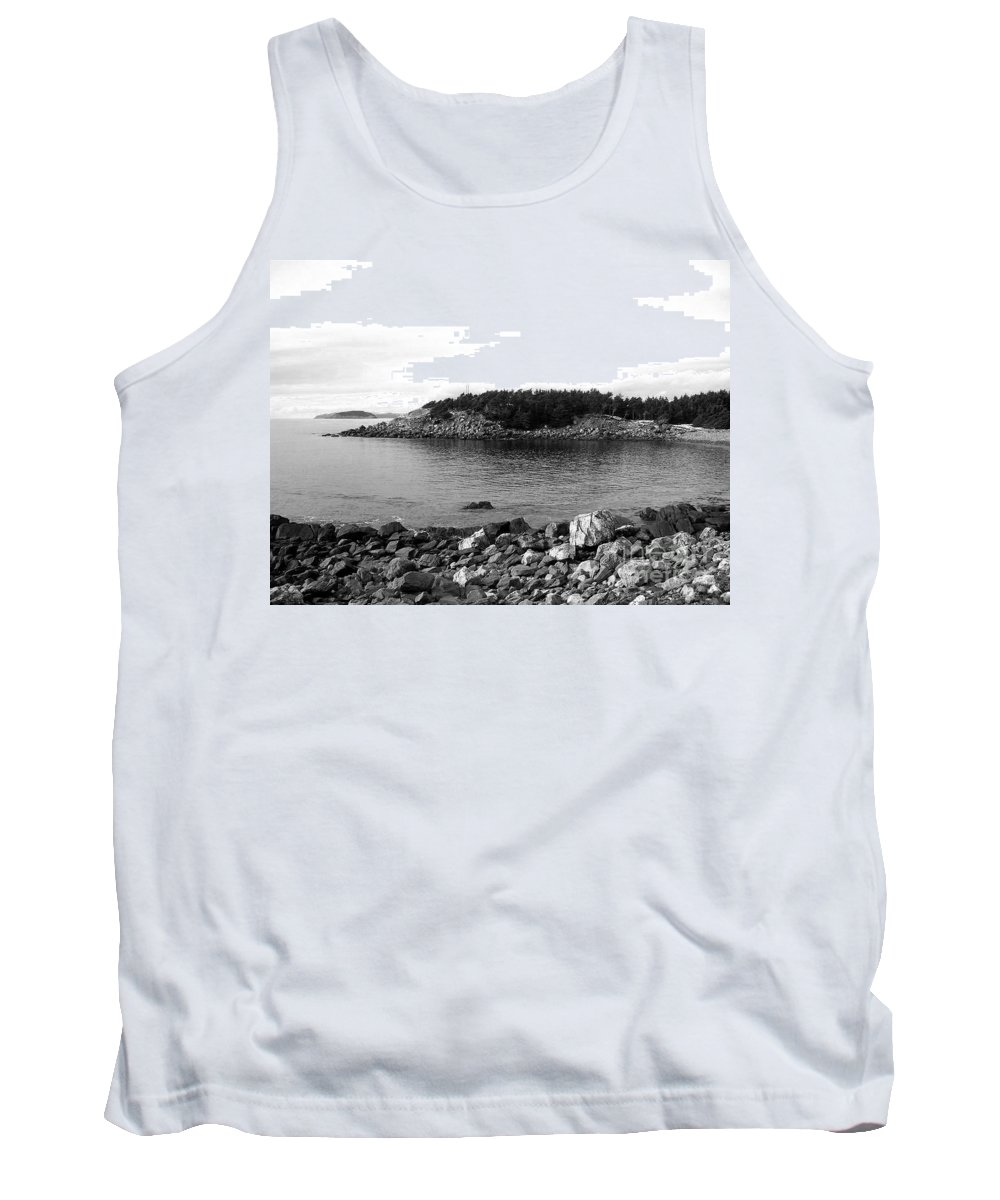 Quiet Little Cove Tank Top featuring the photograph Quiet Little Cove by Barbara Griffin