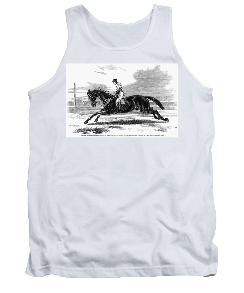 1857 Tank Top featuring the photograph Race Horse, 1857 by Granger