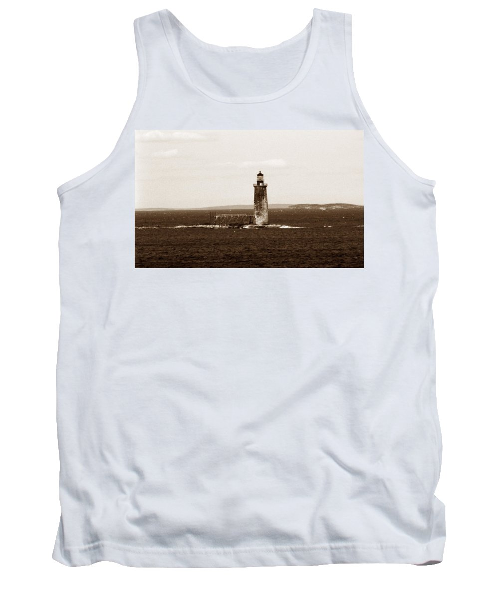 Me Tank Top featuring the photograph Ram Island Ledge Lighthouse by Skip Willits