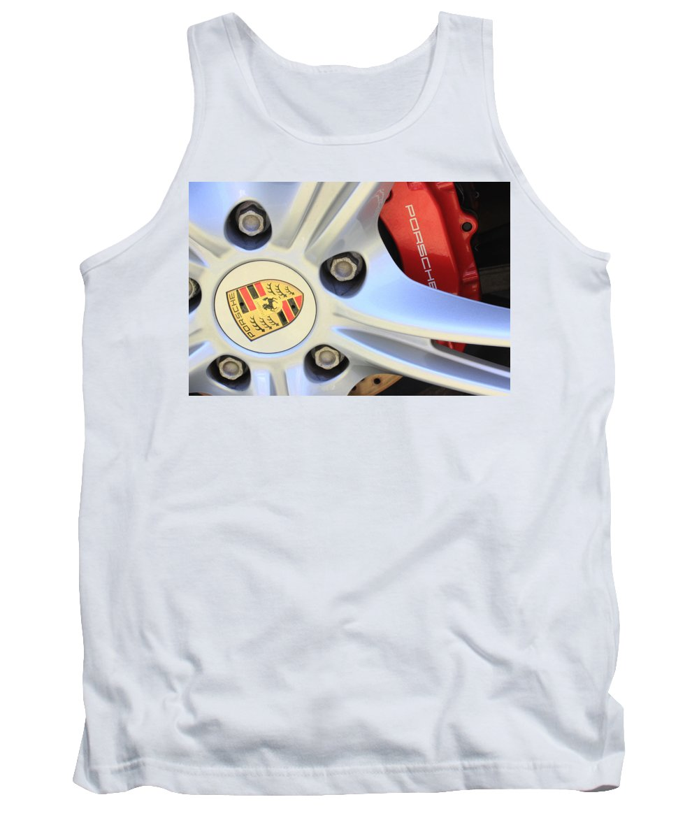 Red Tank Top featuring the photograph Red Boxter S Caliper by Heidi Smith