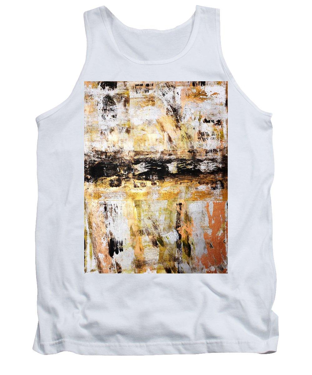 Renga Tank Top featuring the painting Renga by Julie Niemela