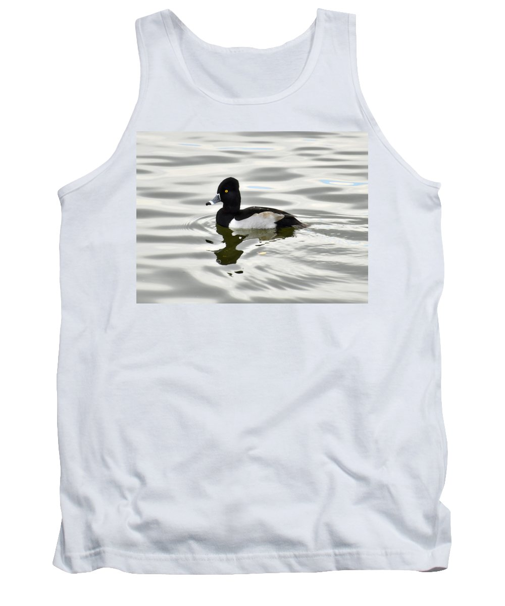 Ring Necked Duck Tank Top featuring the photograph Ring Necked Duck by Saija Lehtonen
