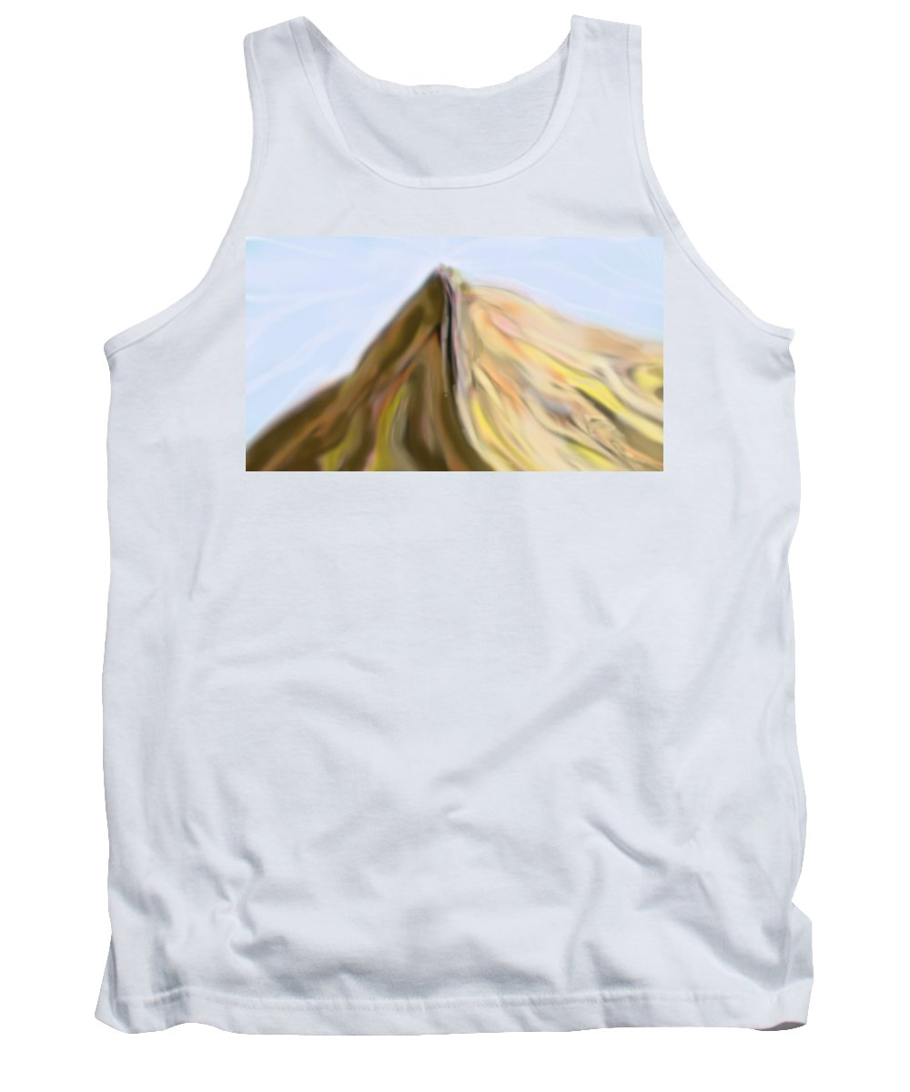 Abstract Tank Top featuring the digital art Rise Up by Ian MacDonald