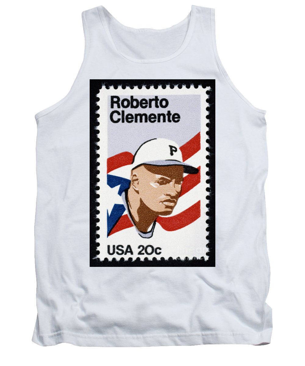 1984 Tank Top featuring the photograph Roberto Clemente by Granger