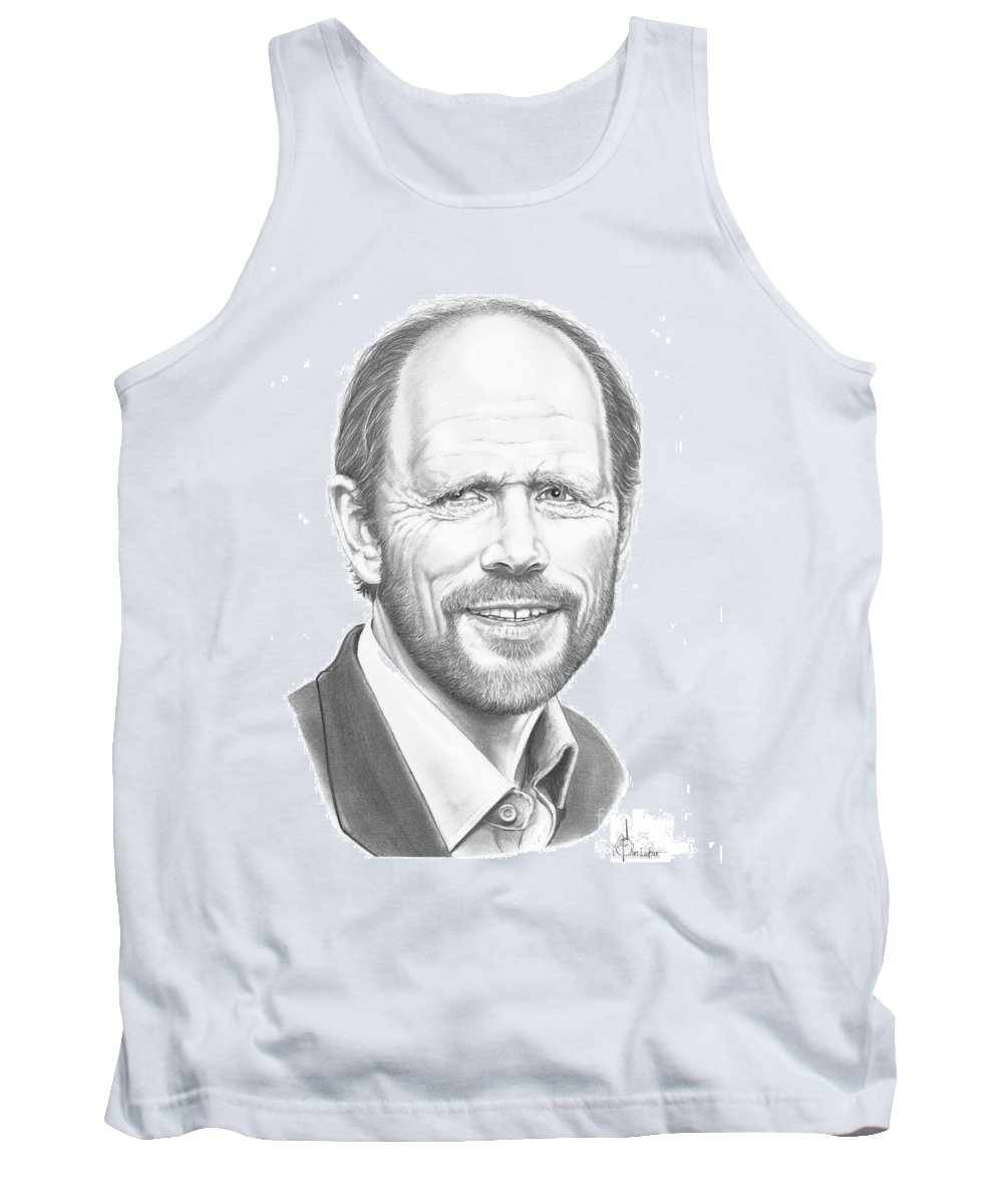 Pencil Tank Top featuring the drawing Ron Howard by Murphy Elliott