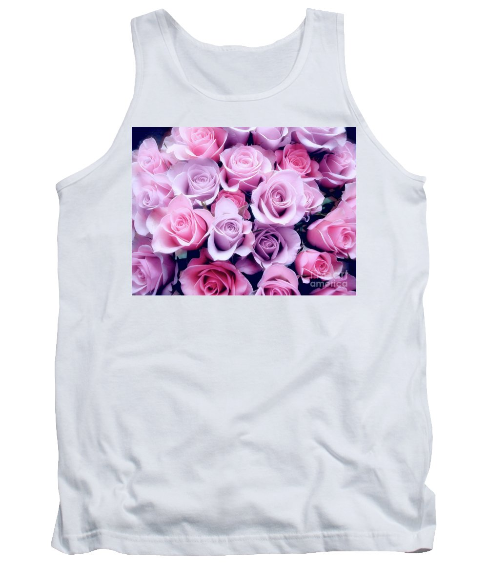 Rose Tank Top featuring the photograph Roses by Frances Hattier