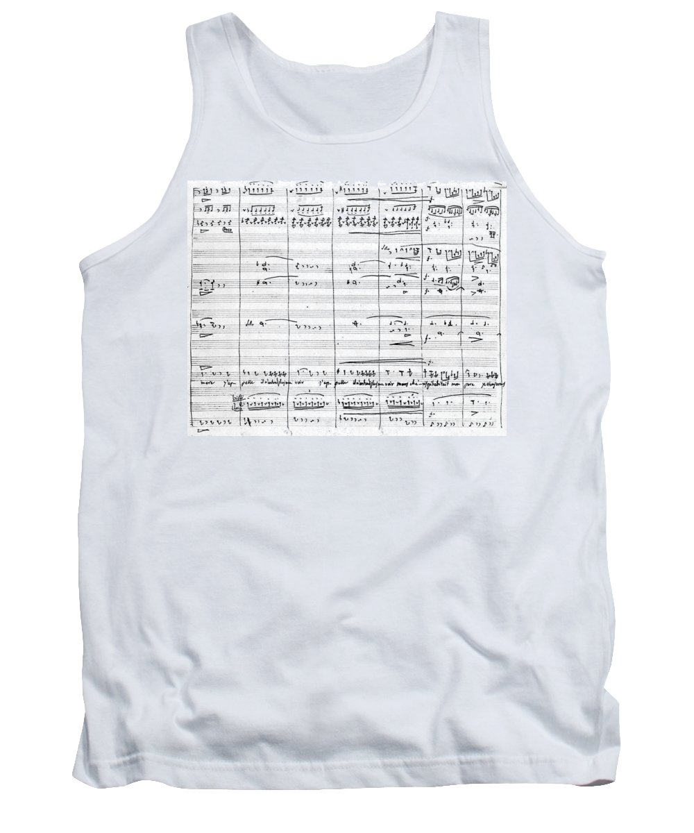 19th Century Tank Top featuring the drawing Rossini Manuscript Page by Granger
