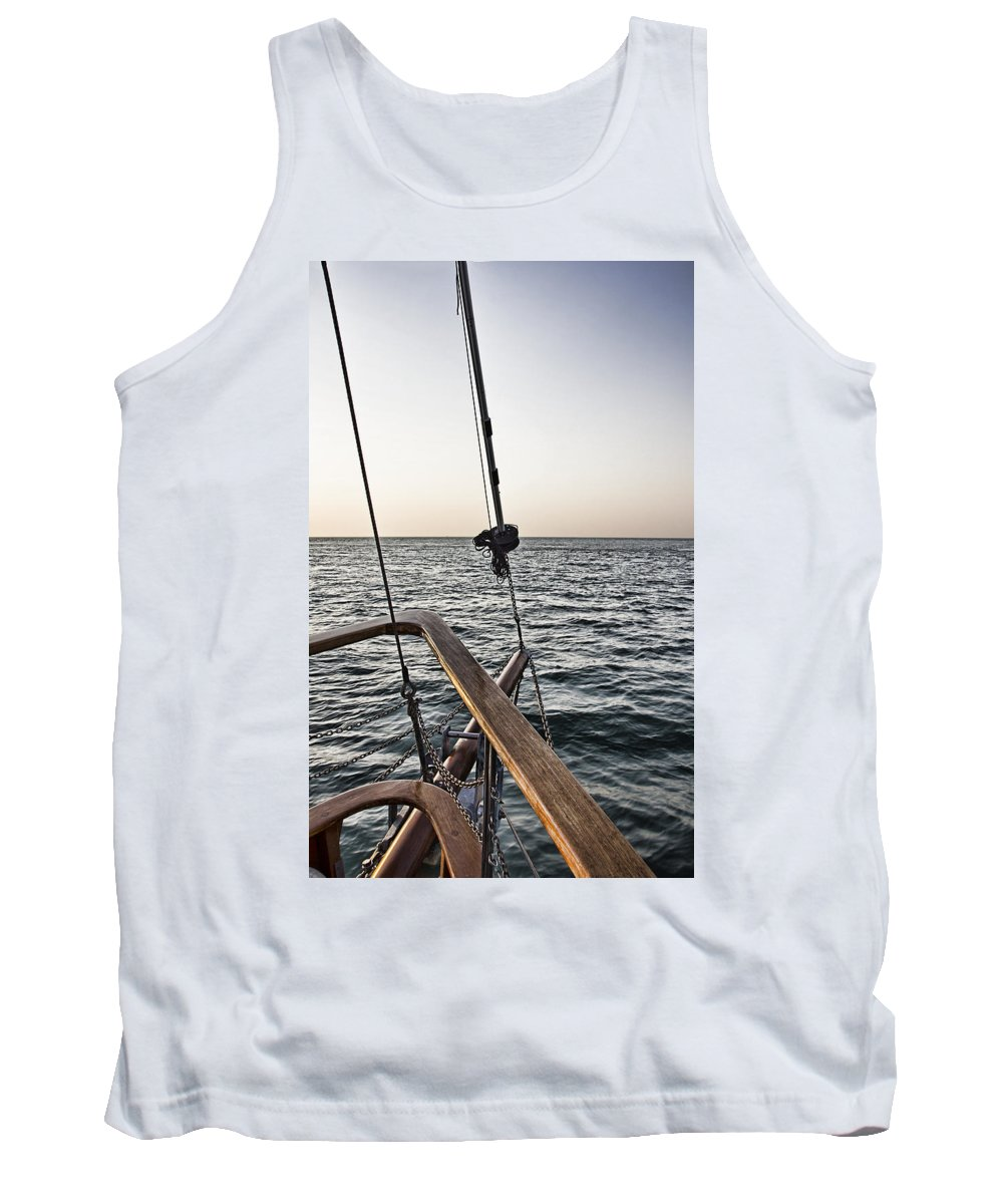 Sailing Tank Top featuring the photograph Sailing The Seas by Douglas Barnard