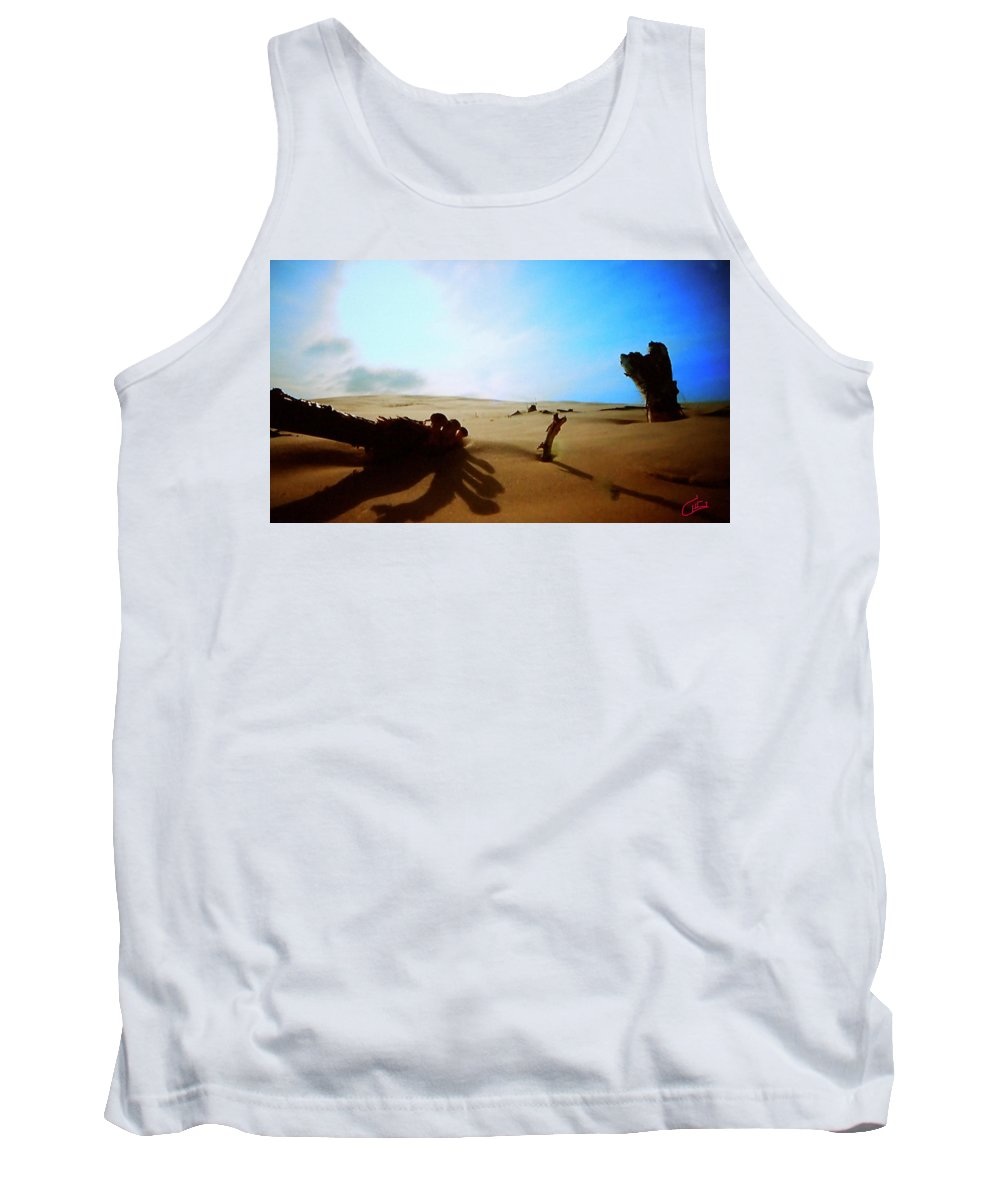 Colette Tank Top featuring the photograph Sand Nature Near Oceon by Colette V Hera Guggenheim