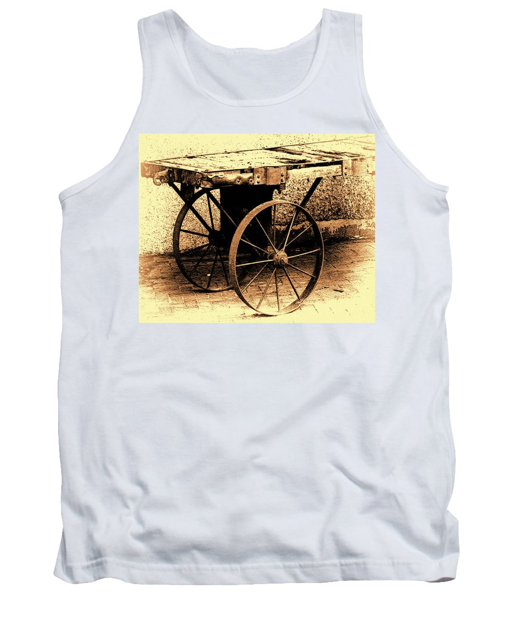 Old Tank Top featuring the photograph Santa Fe Station by Terry Fiala