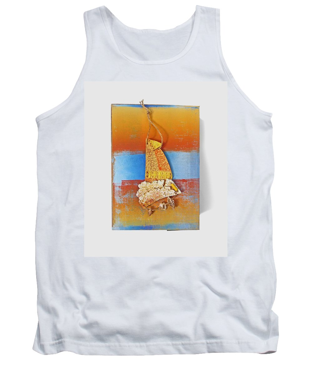 Sculpture Tank Top featuring the painting Sea Change by Charles Stuart