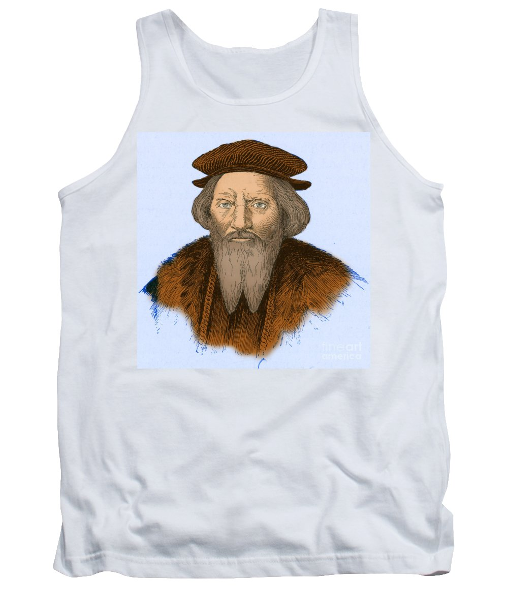 History Tank Top featuring the photograph Sebastian Cabot, Italian Explorer by Photo Researchers