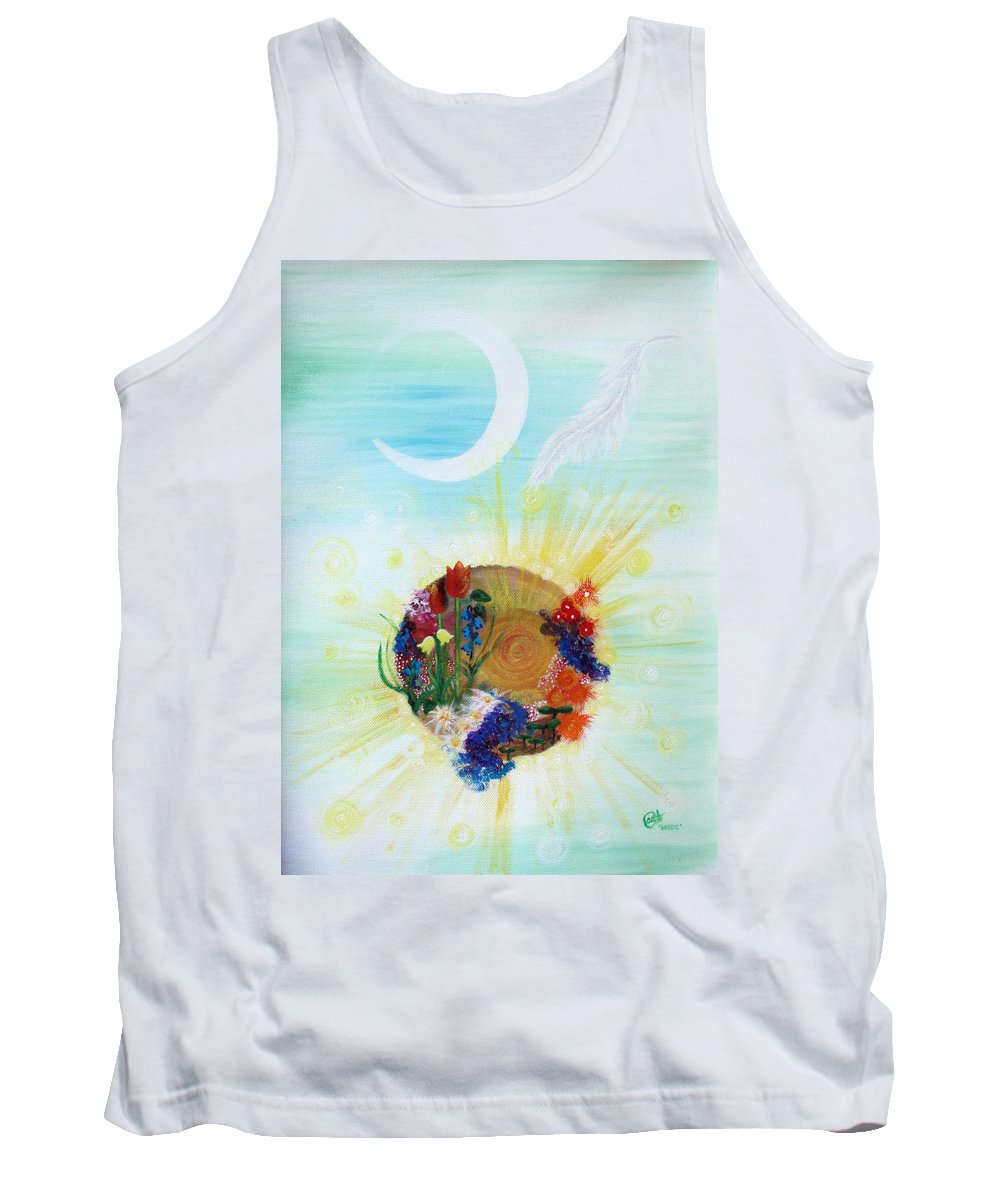 Soulscape Tank Top featuring the painting Seeds by Catt Kyriacou
