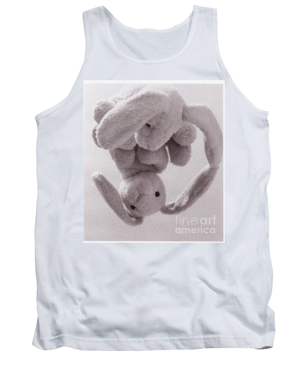 Bunny Tank Top featuring the photograph Self Contemplation - Reflections Bunny by AE Hansen