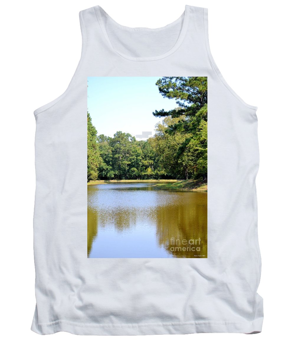 Serene Lake In September Tank Top featuring the photograph Serene Lake In September by Maria Urso