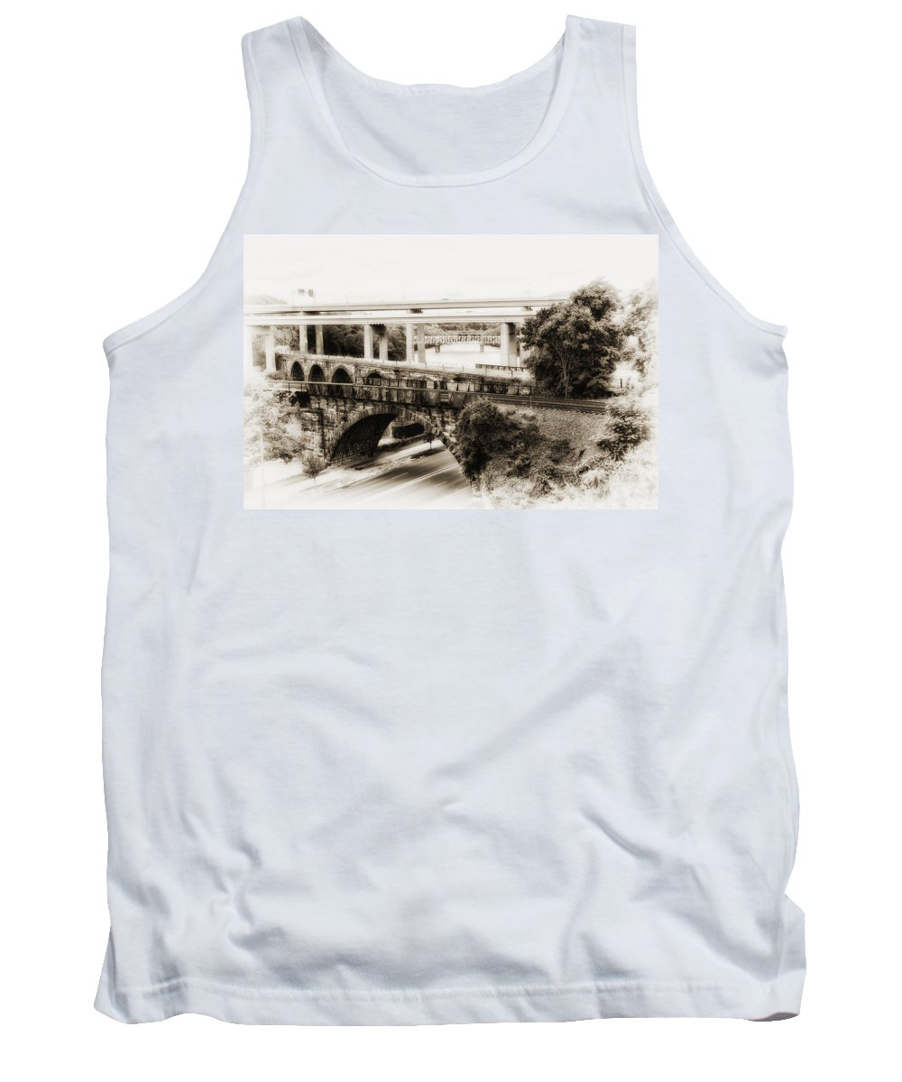 Seven Bridges View Tank Top featuring the photograph Seven Bridges View by Bill Cannon