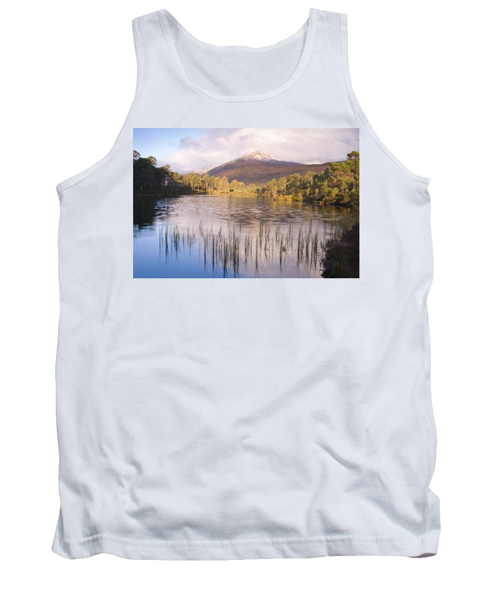 Aesthetic Tank Top featuring the photograph Sgurr Na Lapaich From Loch Salach A Ghiubhais In Glen Affric by Howard Kennedy