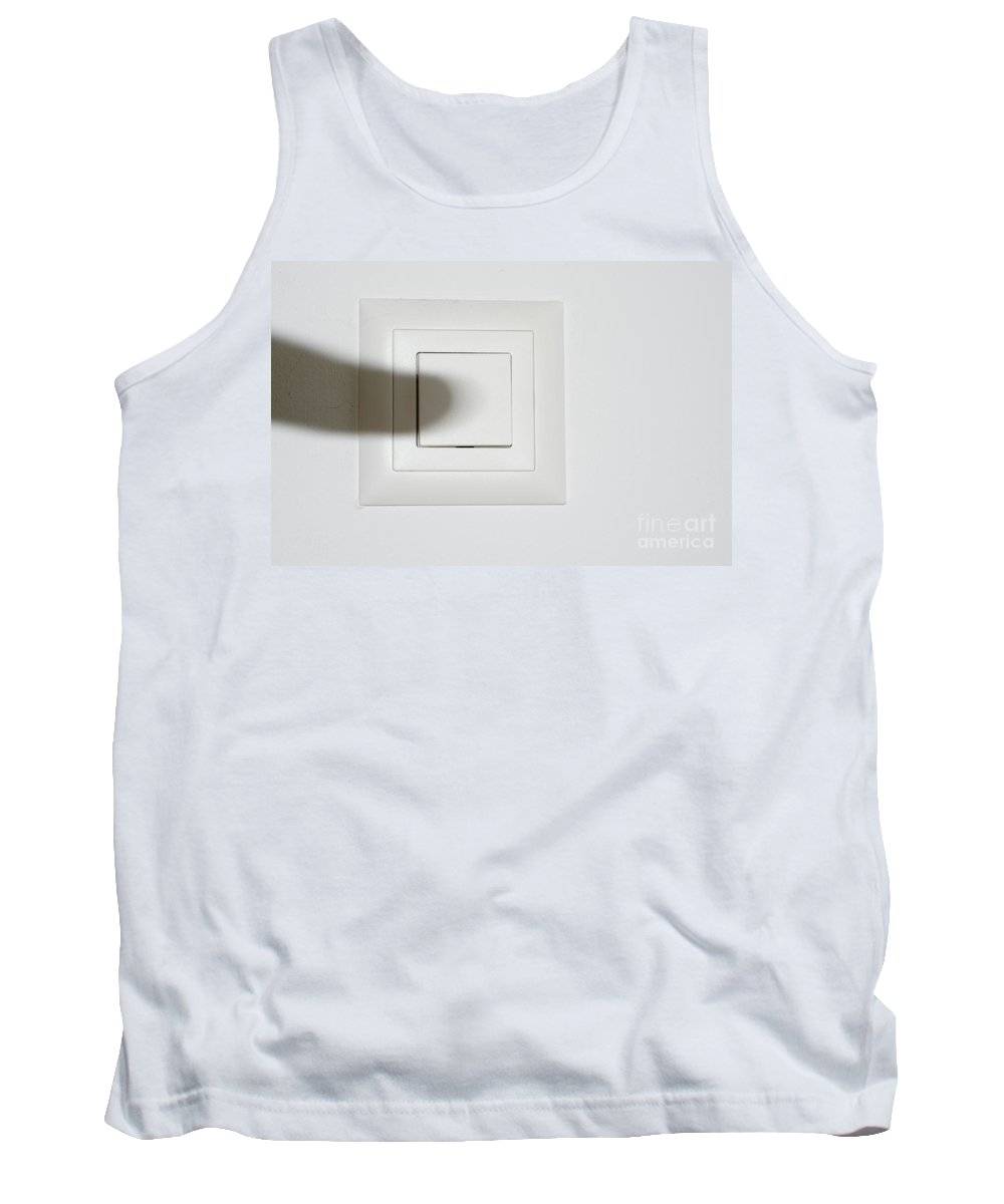 Shadow Tank Top featuring the photograph Shadow Switch On The Light by Mats Silvan