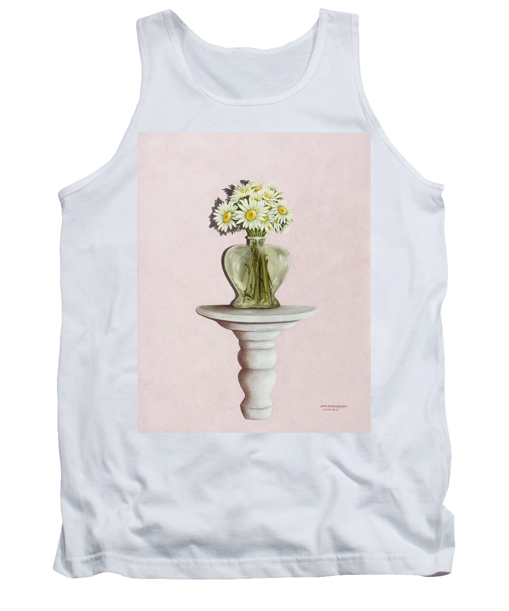 Daisy Paintings Tank Top featuring the painting Simple Things by Mary Ann King