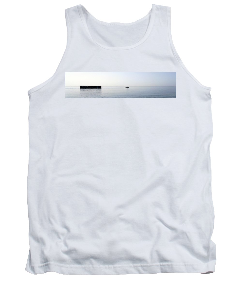 Marine Tank Top featuring the photograph Size Is Not The Issue by Skip Willits