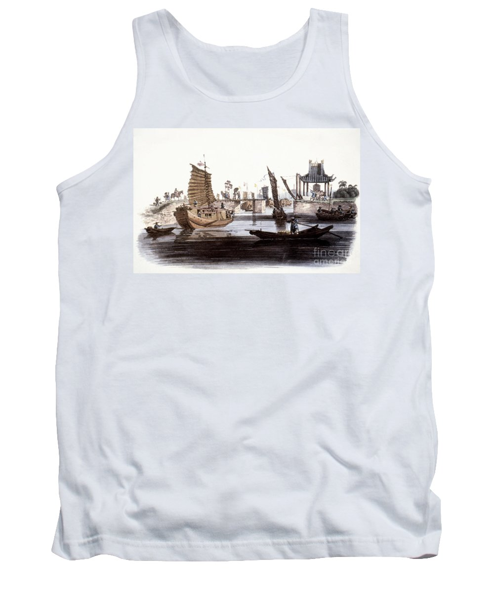 1800 Tank Top featuring the photograph Sluice In China, 1800 by Granger