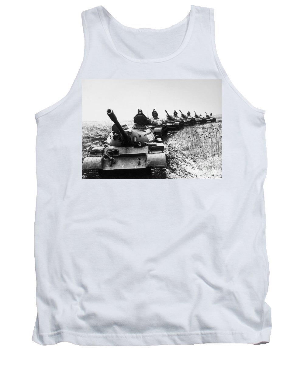 1978 Tank Top featuring the photograph Soviet Tanks, 1978 by Granger