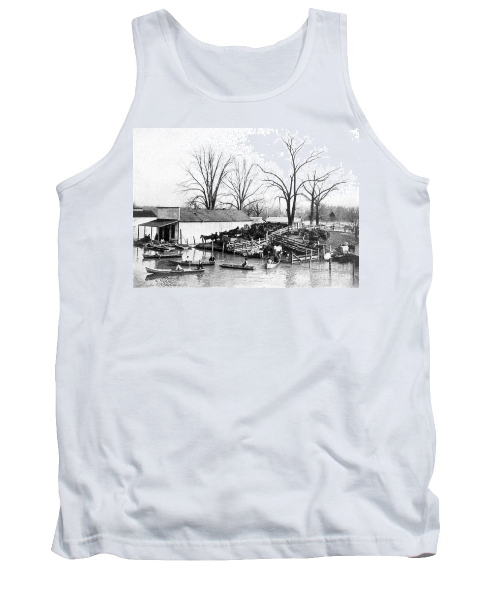 Science Tank Top featuring the photograph Spring Flood, 1903 by Science Source