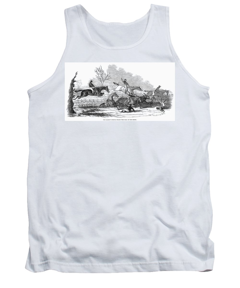 1845 Tank Top featuring the photograph Steeplechase, 1845 by Granger