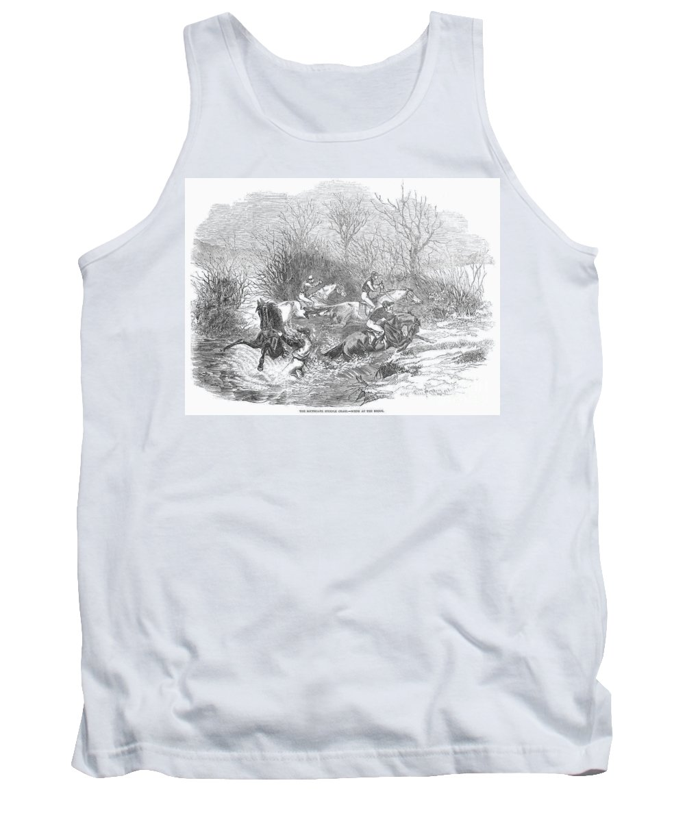 1847 Tank Top featuring the photograph Steeplechase, 1847 by Granger