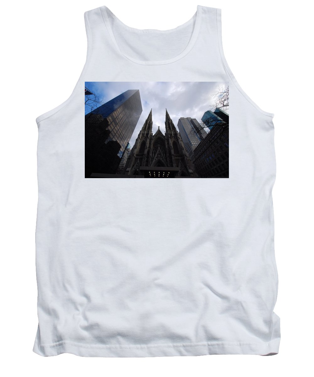 New York City Tank Top featuring the photograph Steeples by John Schneider