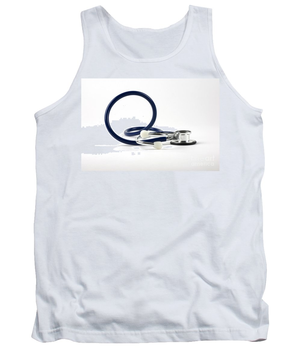 Stethoscope Tank Top featuring the photograph Stethoscope by Photo Researchers, Inc.